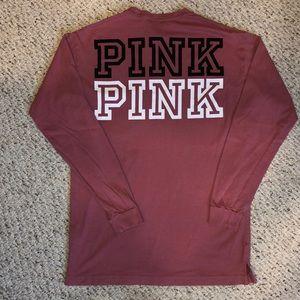 PINK 💕 Long Sleeve Shirt, Mauve color